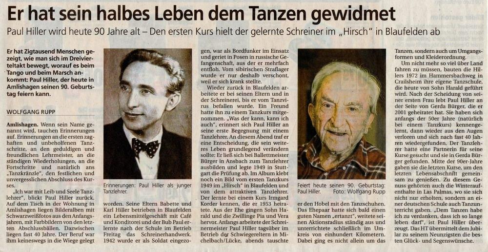 Hiller Paul 90 Jahre